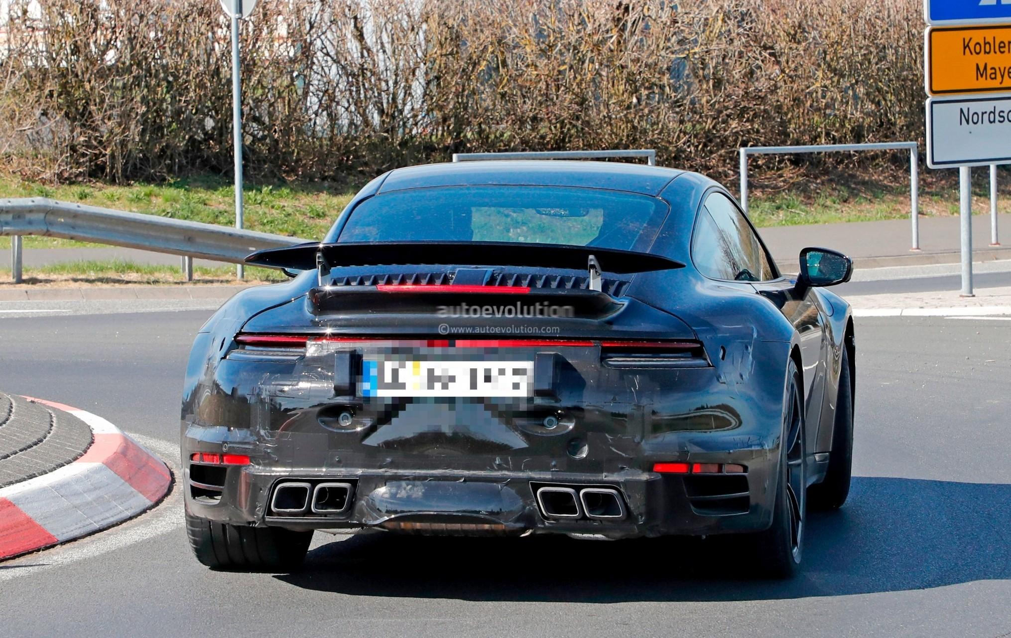 Spyshots 2020 Porsche 911 Turbo Shows New Active Rear
