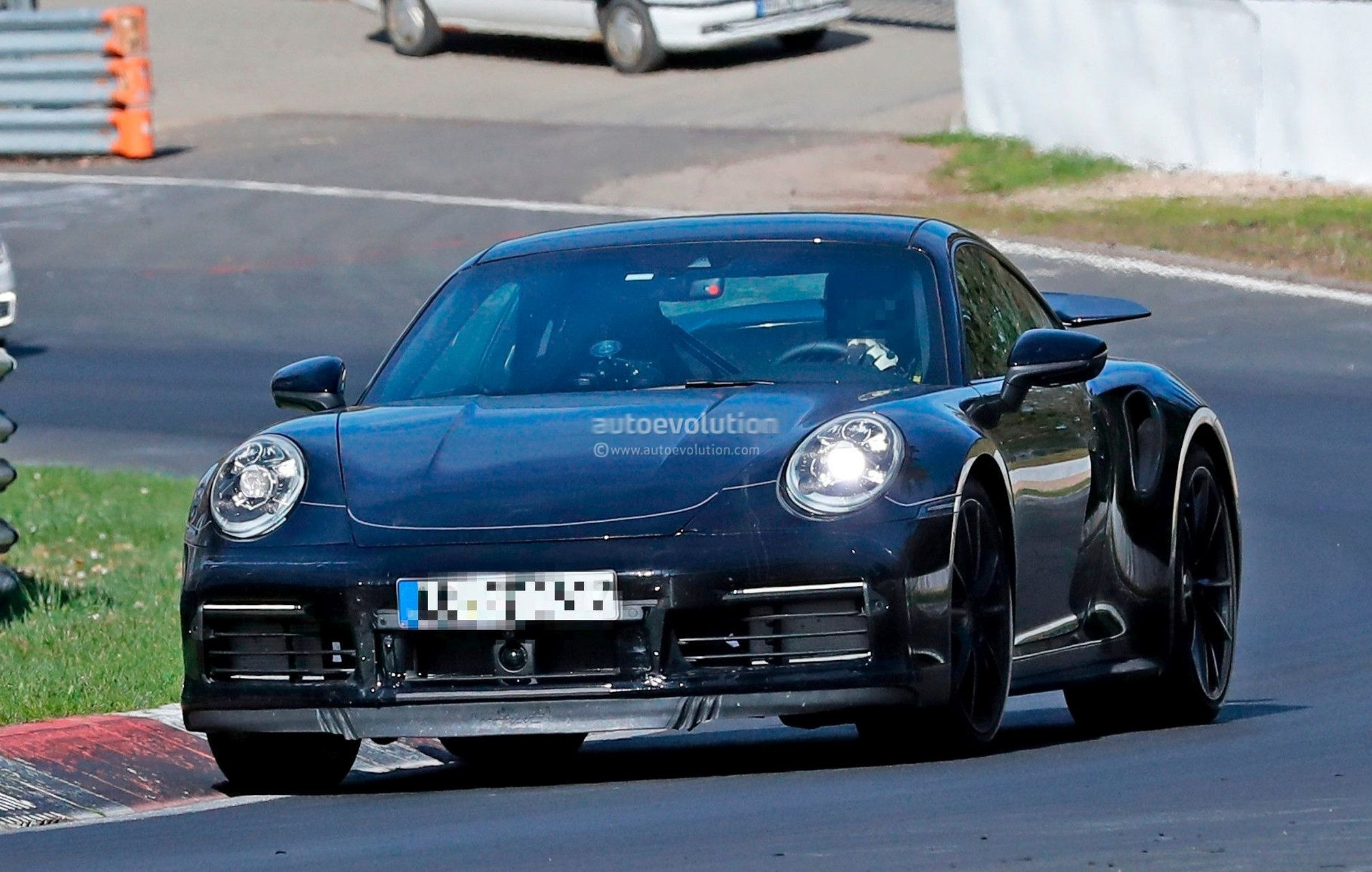 spyshots 2020 porsche 911 turbo shows new active rear wing on nurburgring autoevolution. Black Bedroom Furniture Sets. Home Design Ideas