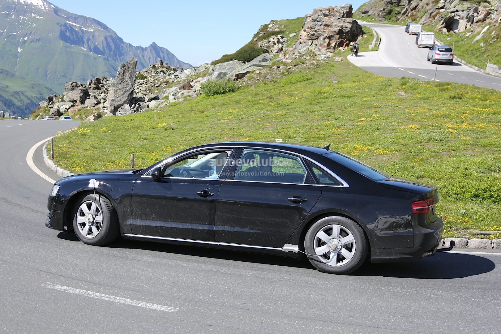 spyshots all new audi a8 for 2016 captured in first photos autoevolution. Black Bedroom Furniture Sets. Home Design Ideas