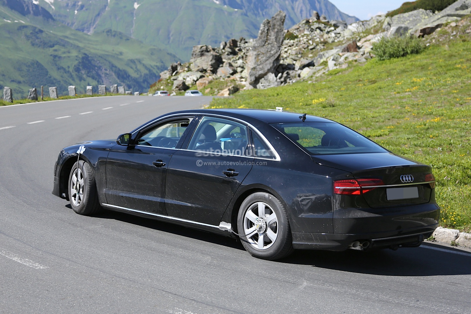 spyshots all new audi a8 for 2016 captured in first. Black Bedroom Furniture Sets. Home Design Ideas