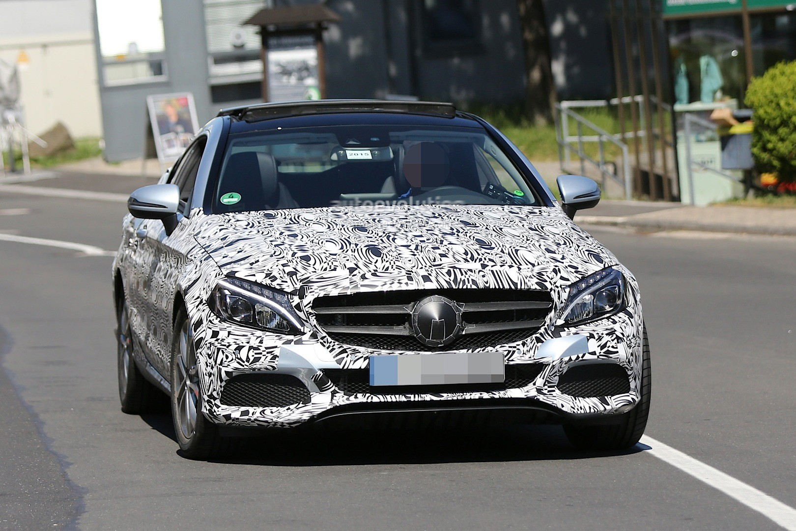 Mercedes S63 Amg Coupe >> Spyshots: All-New Mercedes C-Class Coupe Shows Huge ...