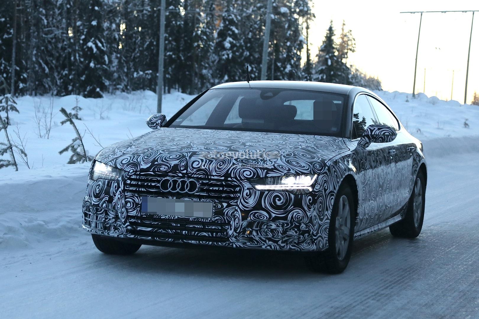 Spyshots: Audi A7 Facelift Winter Testing - autoevolution