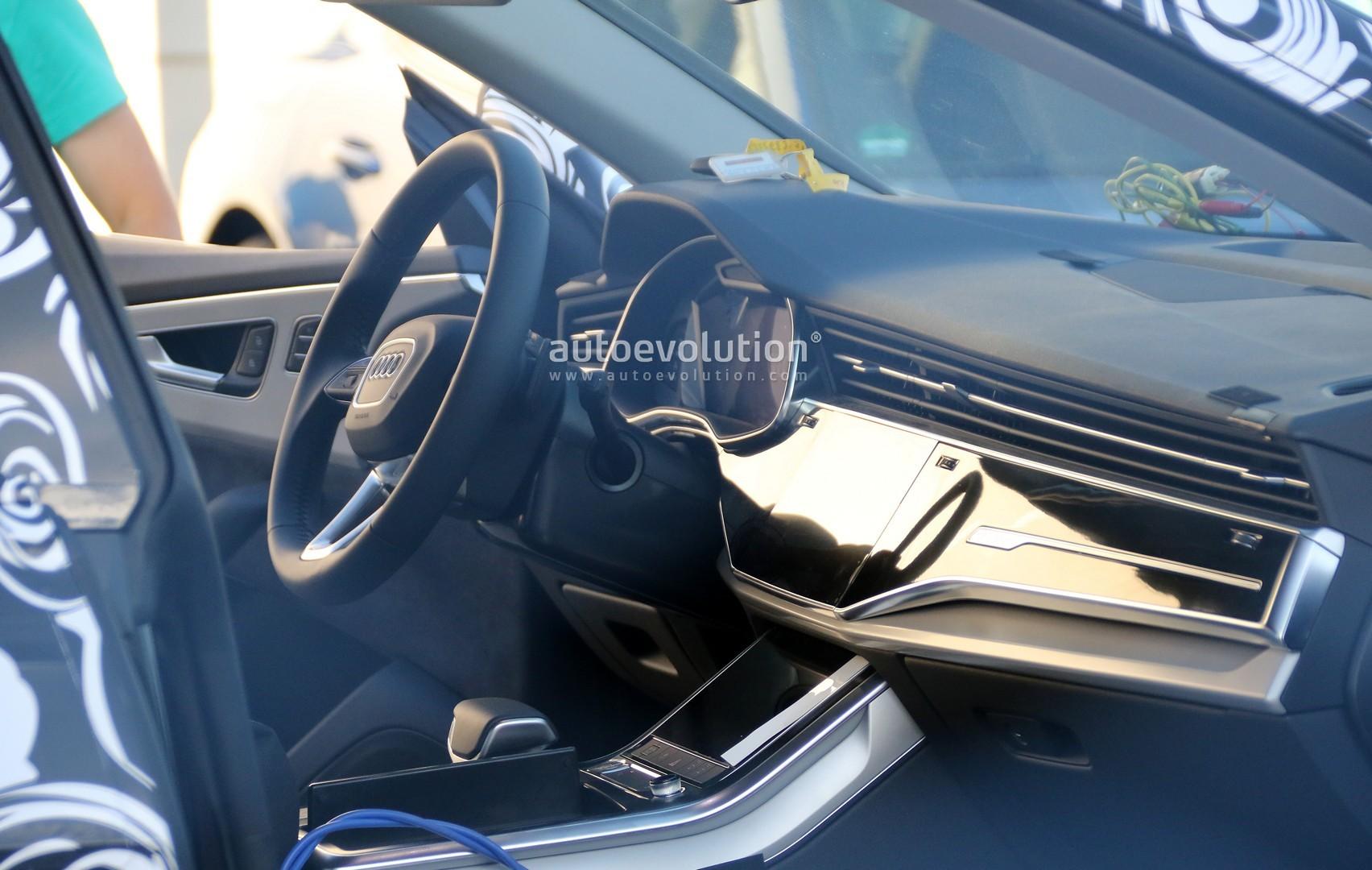 Spyshots Audi Q8 Production Interior Revealed Autoevolution