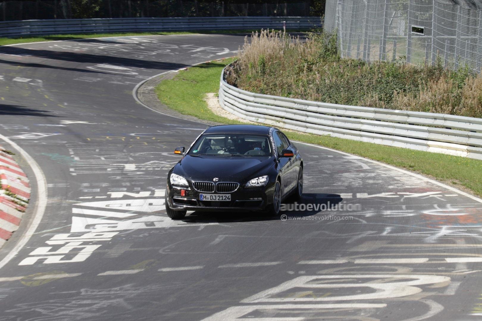 spyshots bmw 6 series gran coupe drifting on the nurburgring   autoevolution
