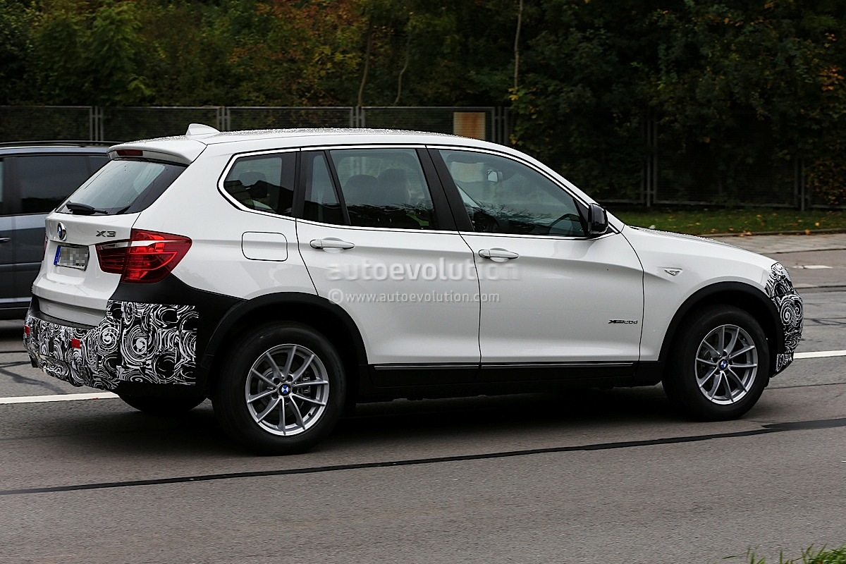 spyshots bmw f25 x3 facelift lci first photos autoevolution. Black Bedroom Furniture Sets. Home Design Ideas
