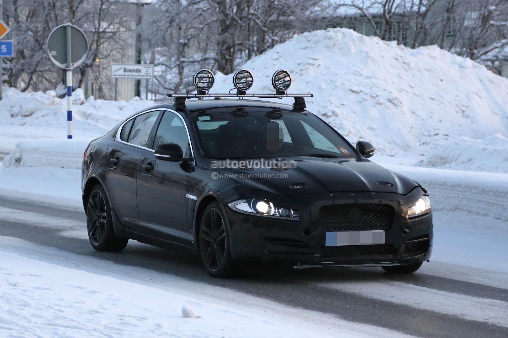 Spyshots Jaguar Xs Test Mule Winter Testing In Sweden