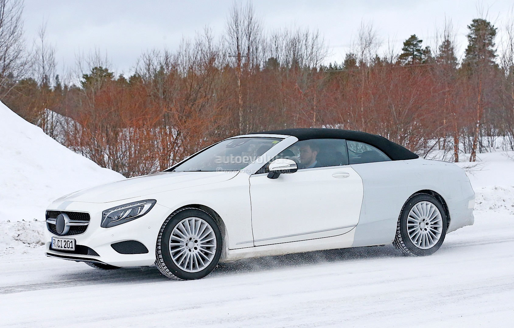 Spyshots Mercedes Benz S Class Cabriolet A217 Spotted