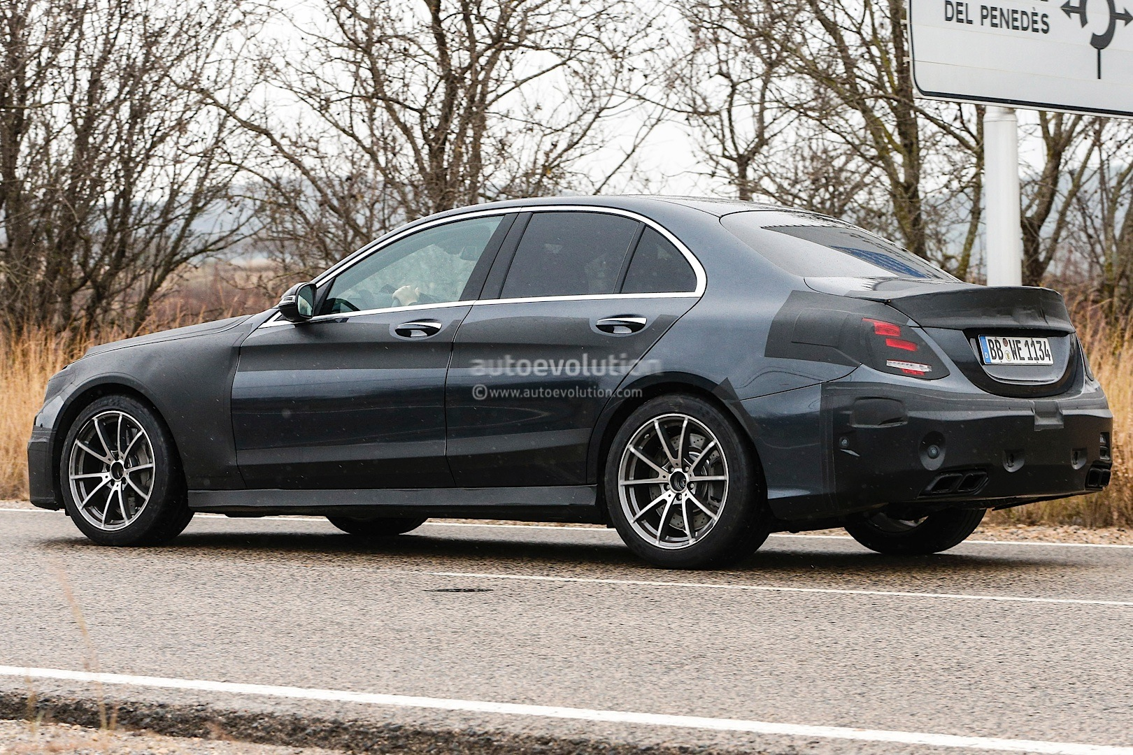 Spyshots new mercedes c63 amg most revealing photos yet for How much is a mercedes benz c63 amg