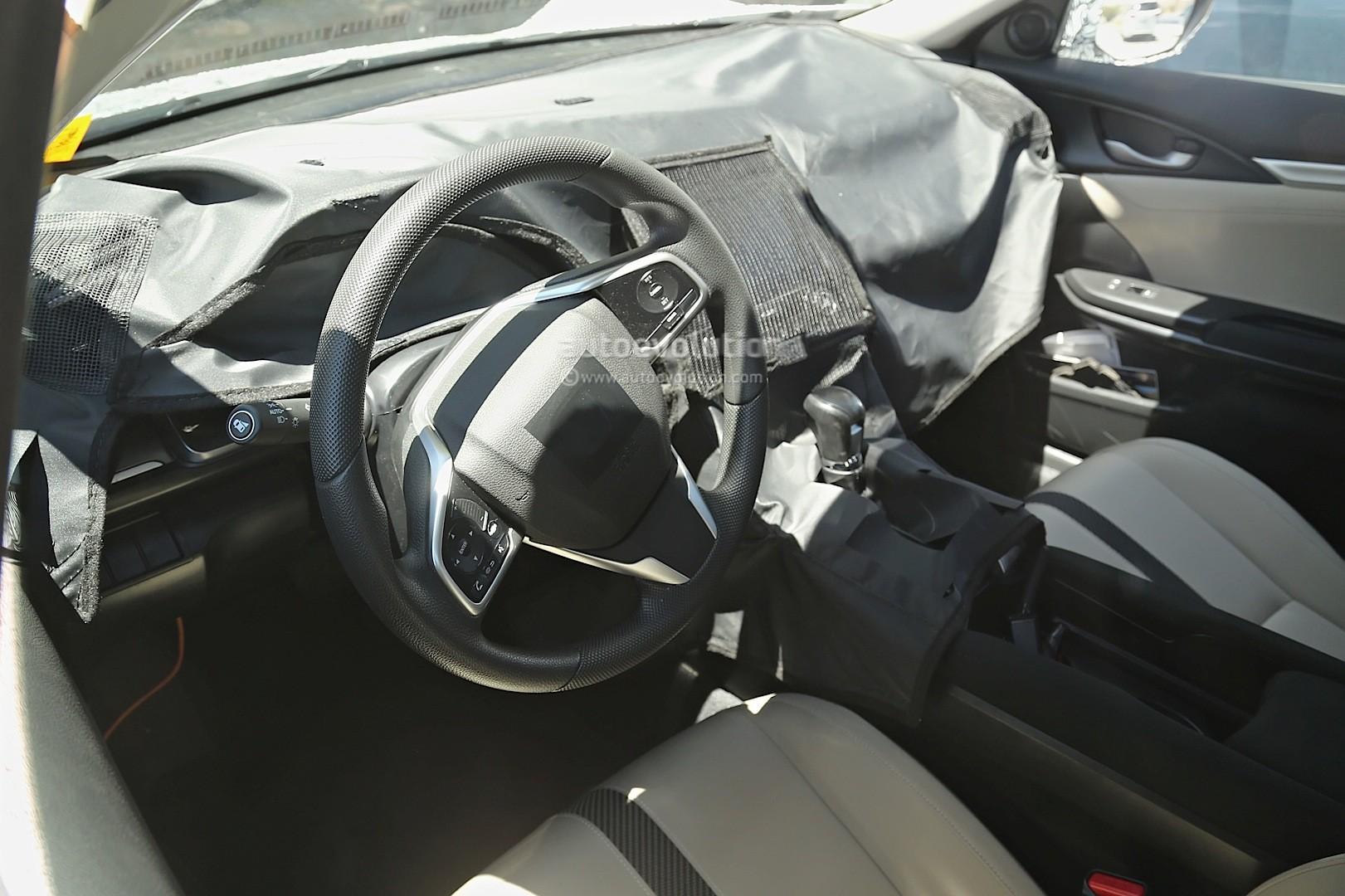 spyshots next gen 2017 honda civic sedan interior revealed new