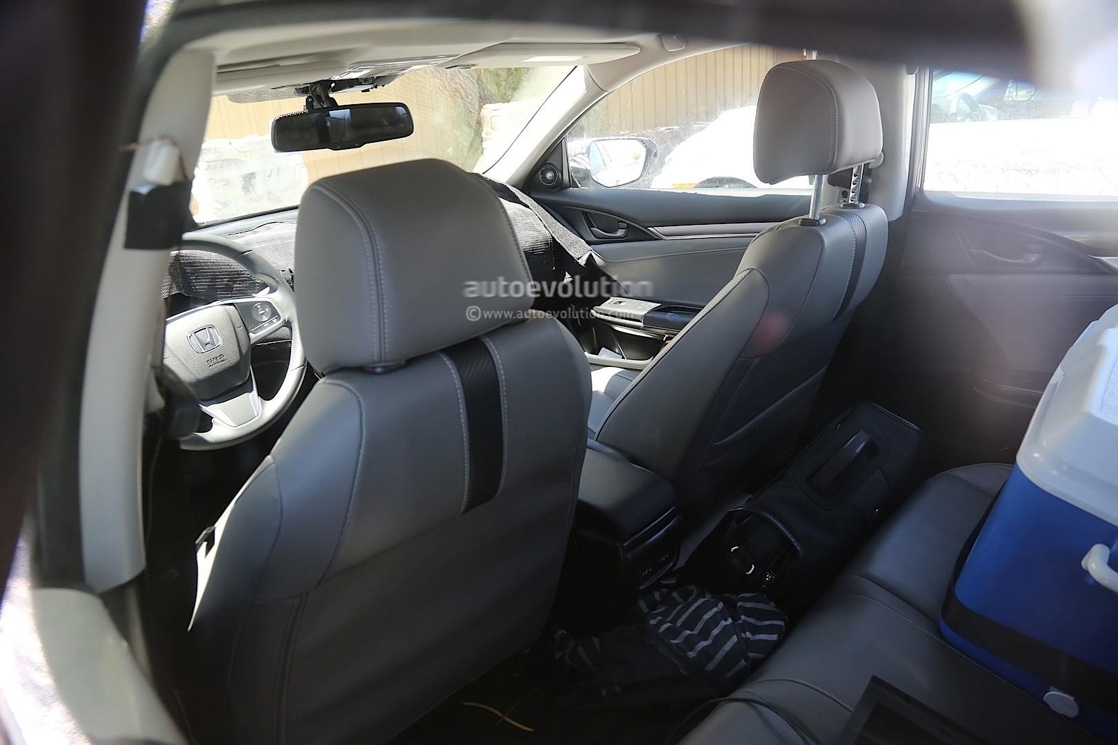 spyshots next gen 2017 honda civic sedan interior revealed new exterior details shown. Black Bedroom Furniture Sets. Home Design Ideas