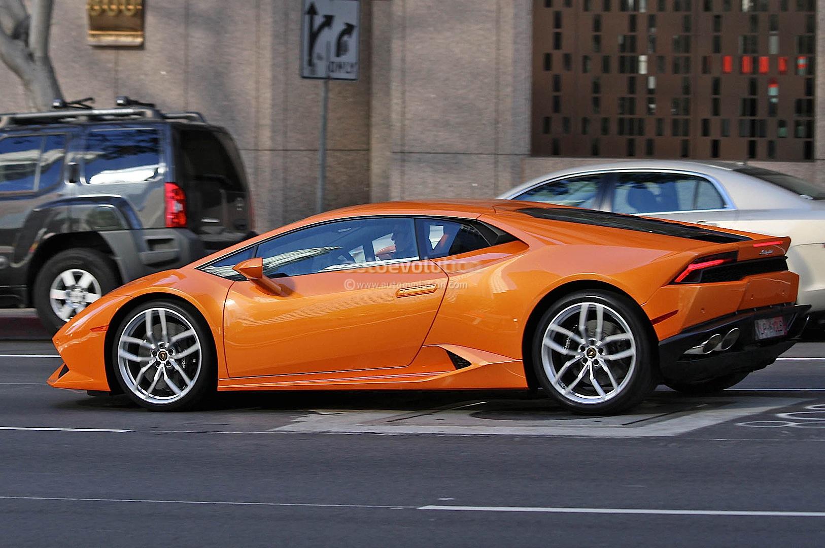 spyshots orange lamborghini huracan street racing in the us - Lamborghini Huracan Orange Interior