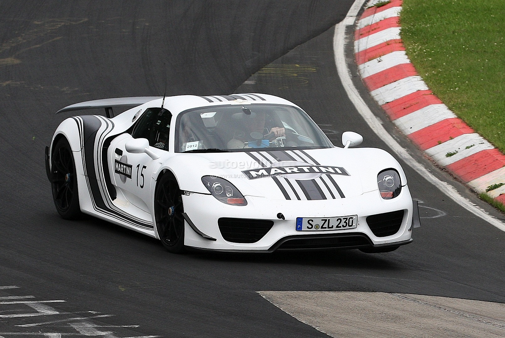 Spyshots Porsche 918 Spyder In Martini Racing Stripes