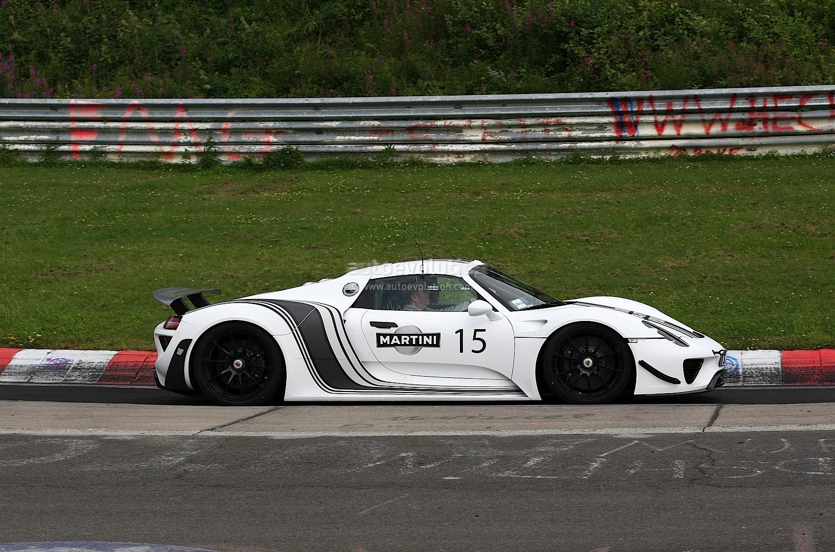 Spyshots Porsche 918 Spyder In Martini Racing Stripes