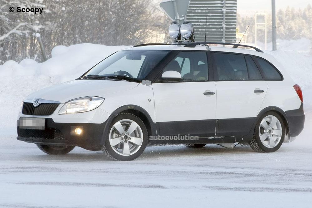 Spyshots Skoda Fabia Scout Facelift Autoevolution
