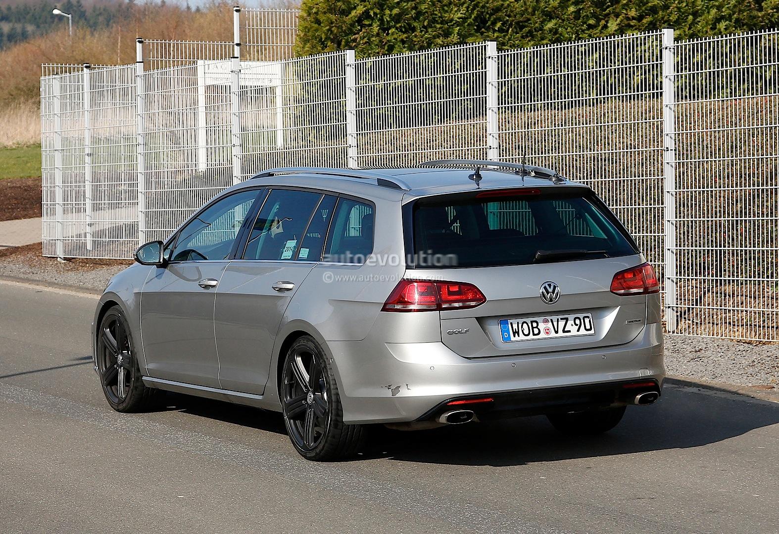 Spyshots: Volkswagen Golf R Estate - autoevolution