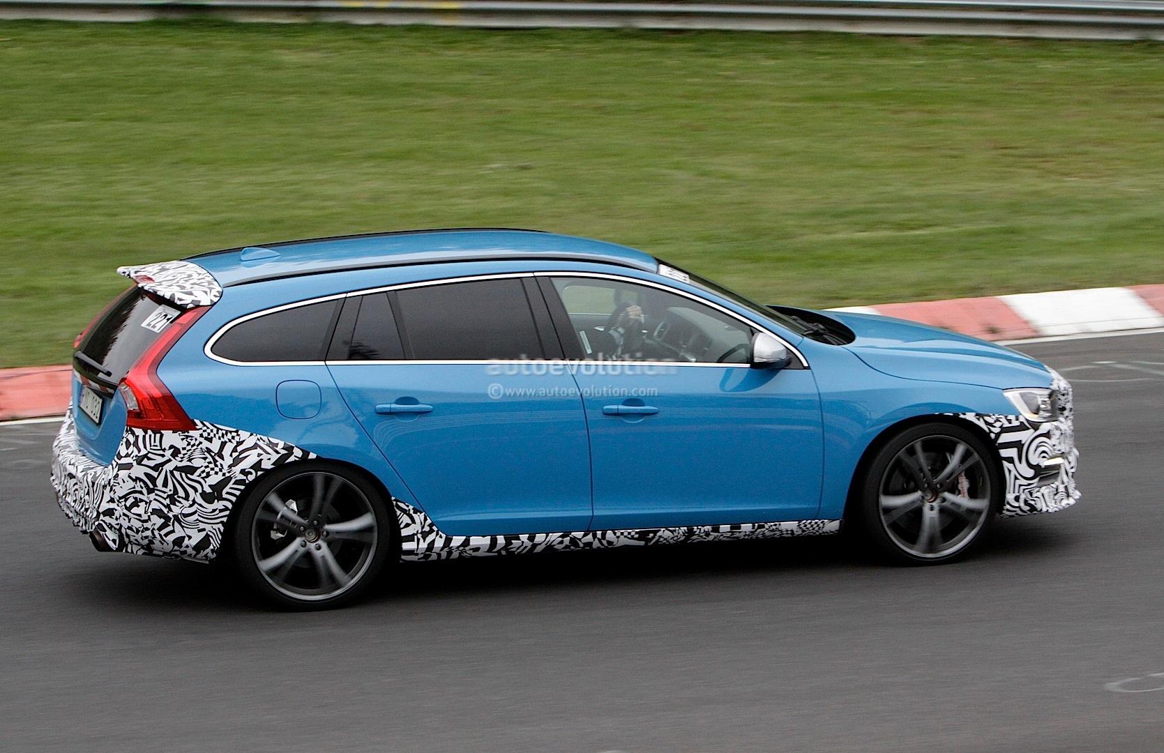 spyshots volvo v60 polestar being tested on nurburgring autoevolution. Black Bedroom Furniture Sets. Home Design Ideas
