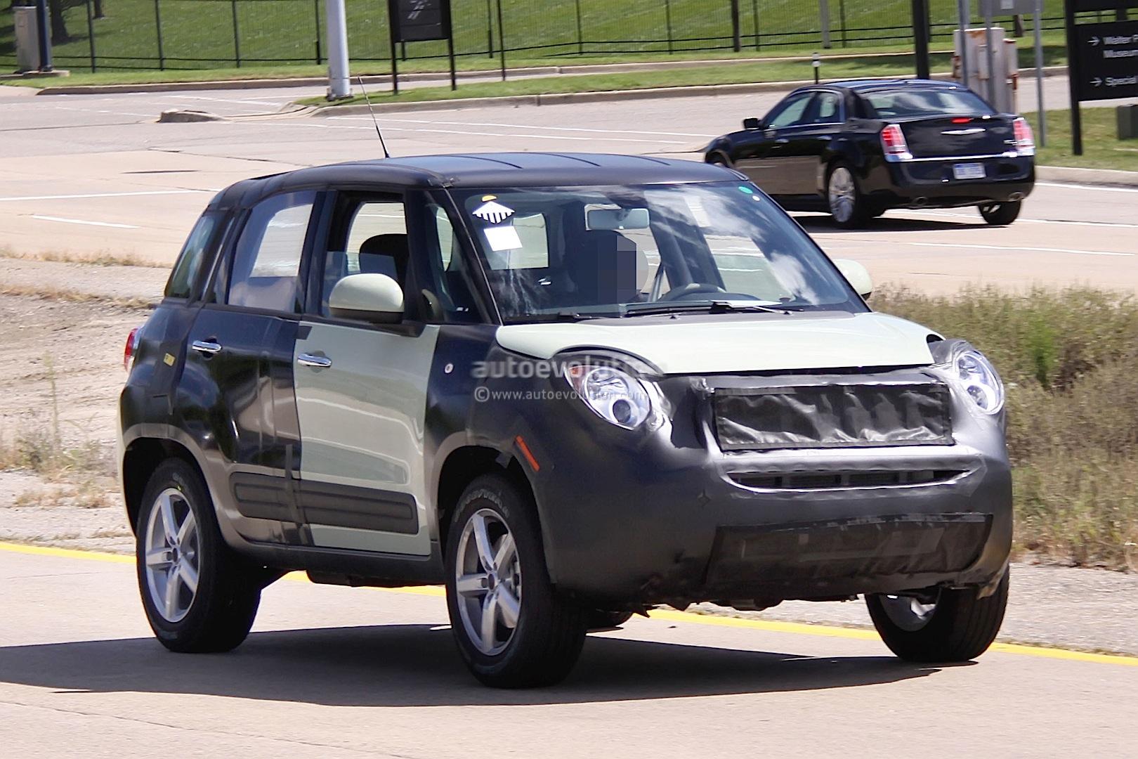 spyshots 2015 jeep b suv fiat 500x test mule autoevolution. Black Bedroom Furniture Sets. Home Design Ideas