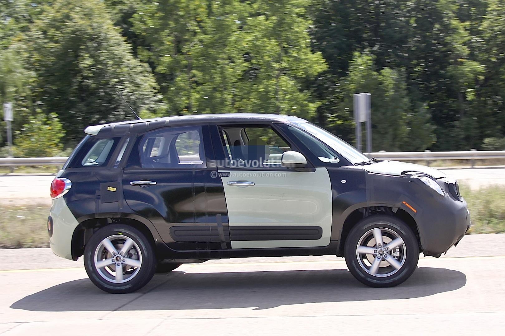 Spyshots 2015 Jeep B-suv    Fiat 500x Test Mule