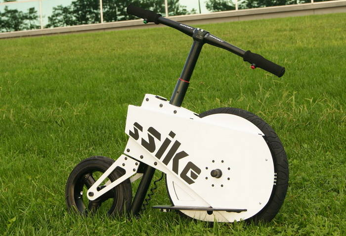 ssike an electric scooter doing 40 km with 5 cents. Black Bedroom Furniture Sets. Home Design Ideas