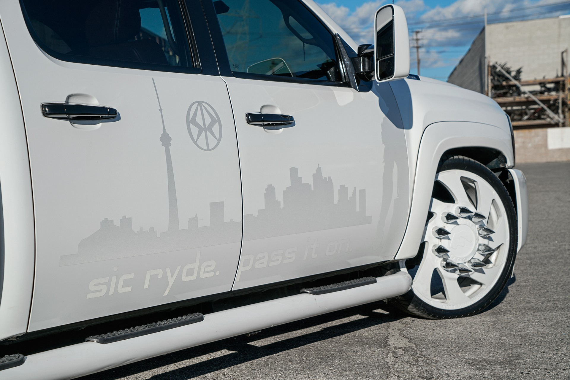 Stanced 6 Wheel Chevy Silverado Rides On Forgiato Dually
