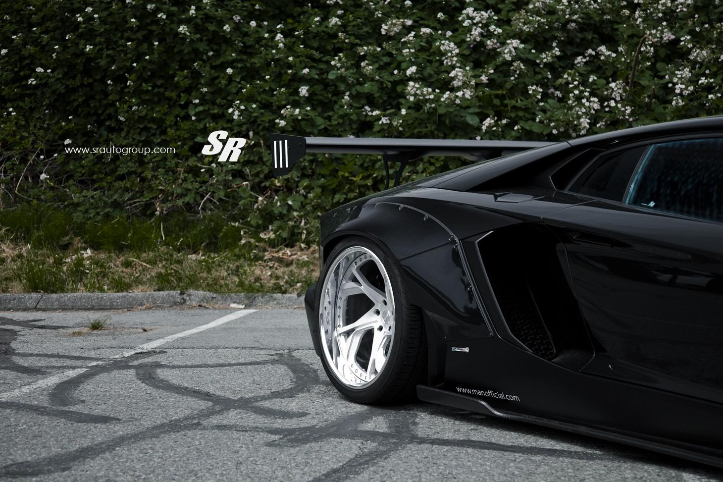 Stanced Lamborghini Aventador With Liberty Walk Kit Looks