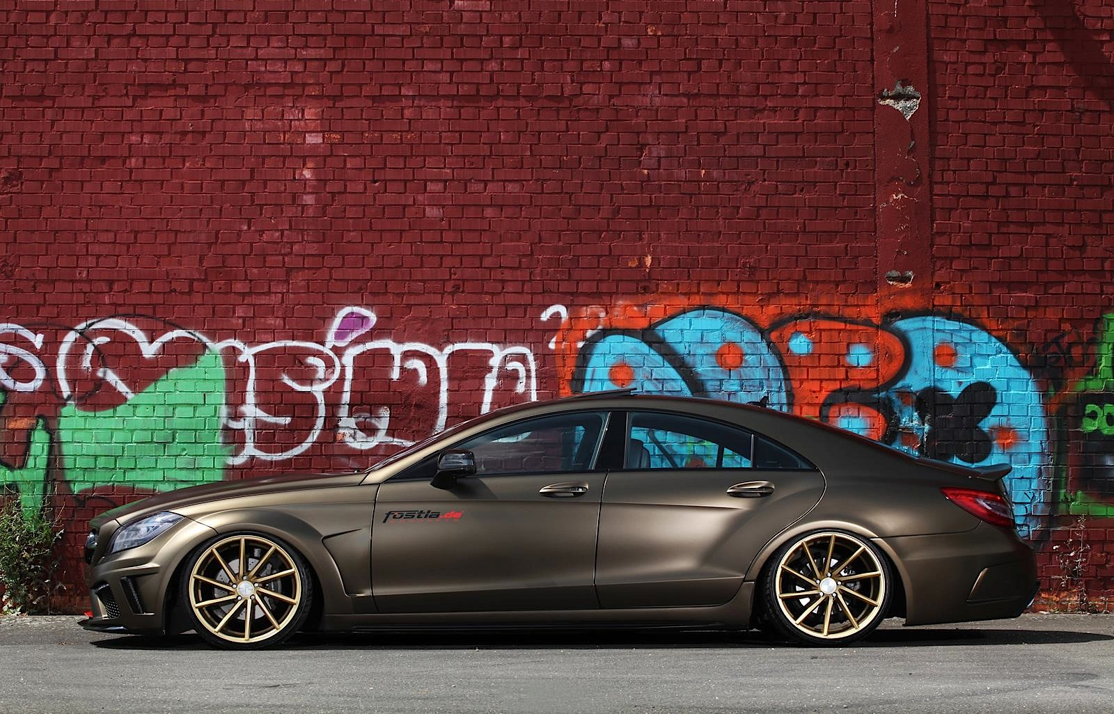 Used 2016 Nissan Maxima >> Stanced Mercedes-Benz CLS by Fostla is a Bit Too Much - autoevolution
