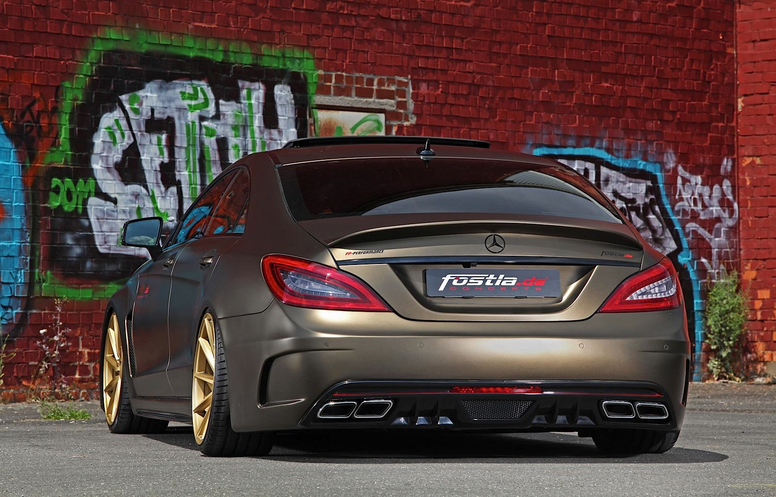 Stanced Mercedes Benz Cls By Fostla Is A Bit Too Much
