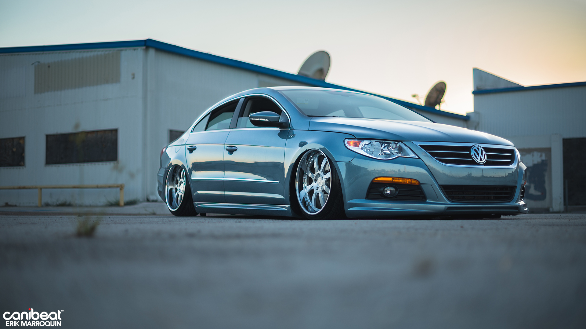 stanced volkswagen passat cc r line is a vip beauty autoevolution. Black Bedroom Furniture Sets. Home Design Ideas