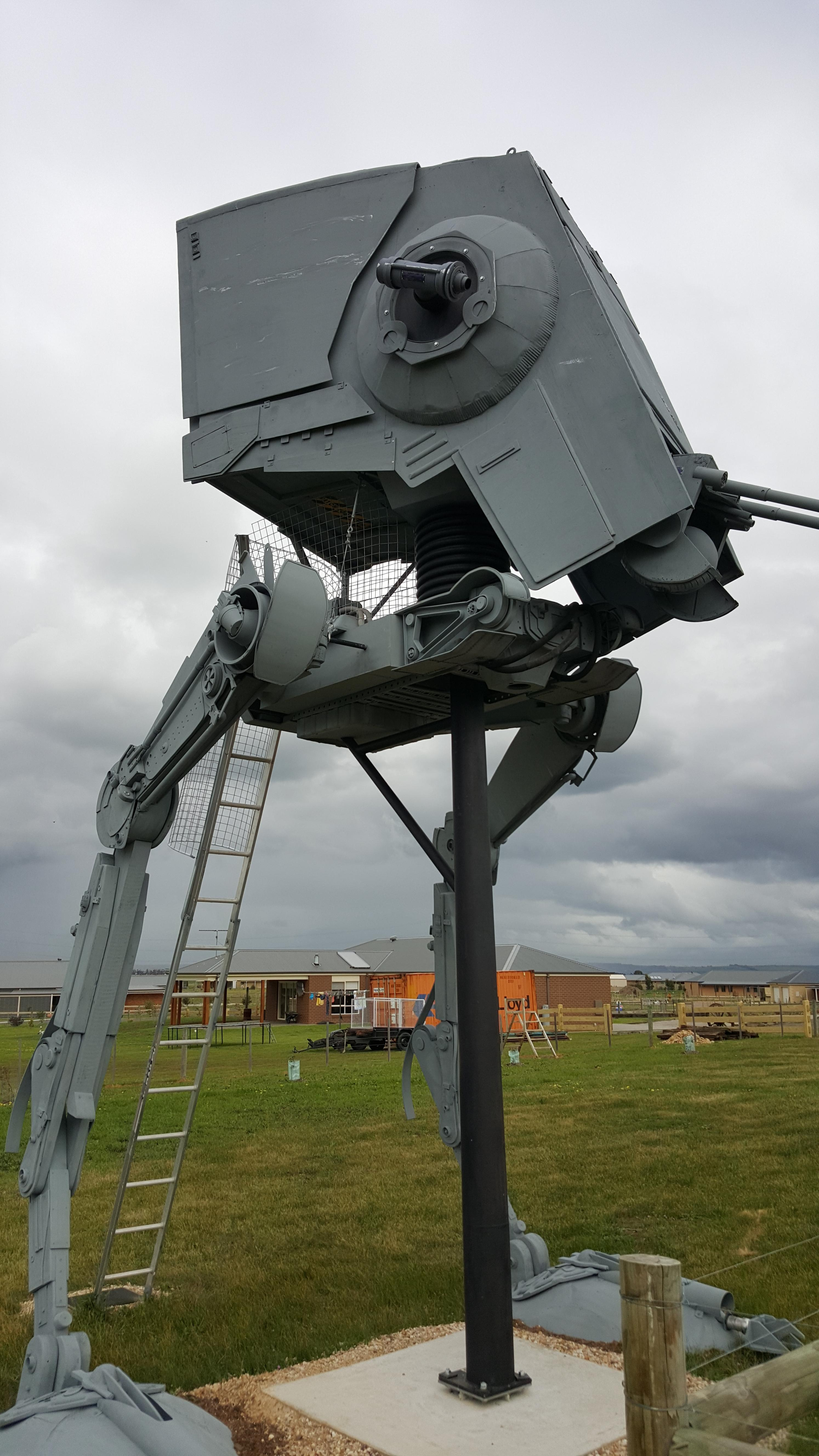 Star Wars Fanatic Creates Full Size At St Walker Complete With Accurate Cockpit Photo Gallery