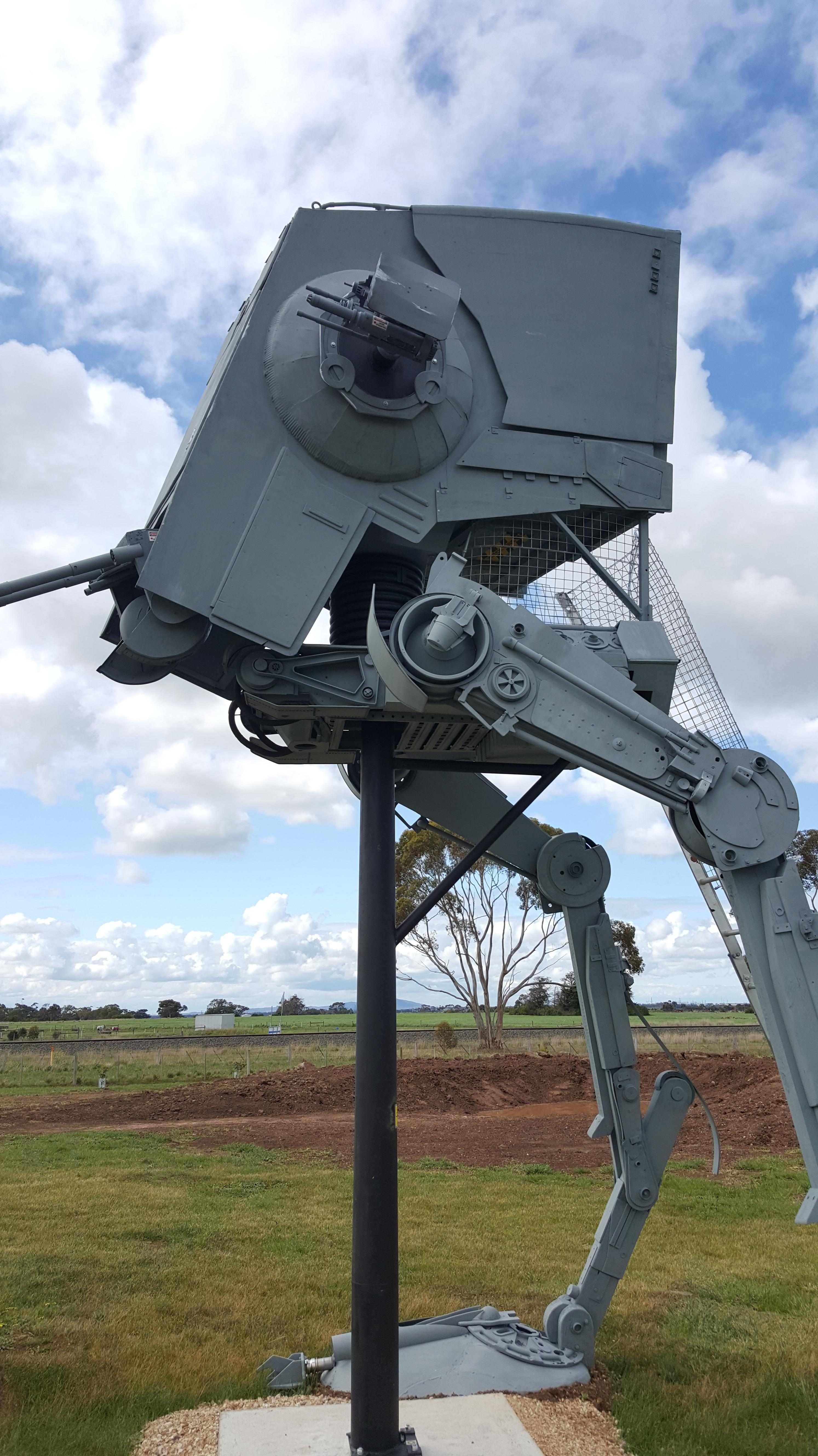 Star Wars Fanatic Creates Full-Size AT-ST Walker, Complete ...