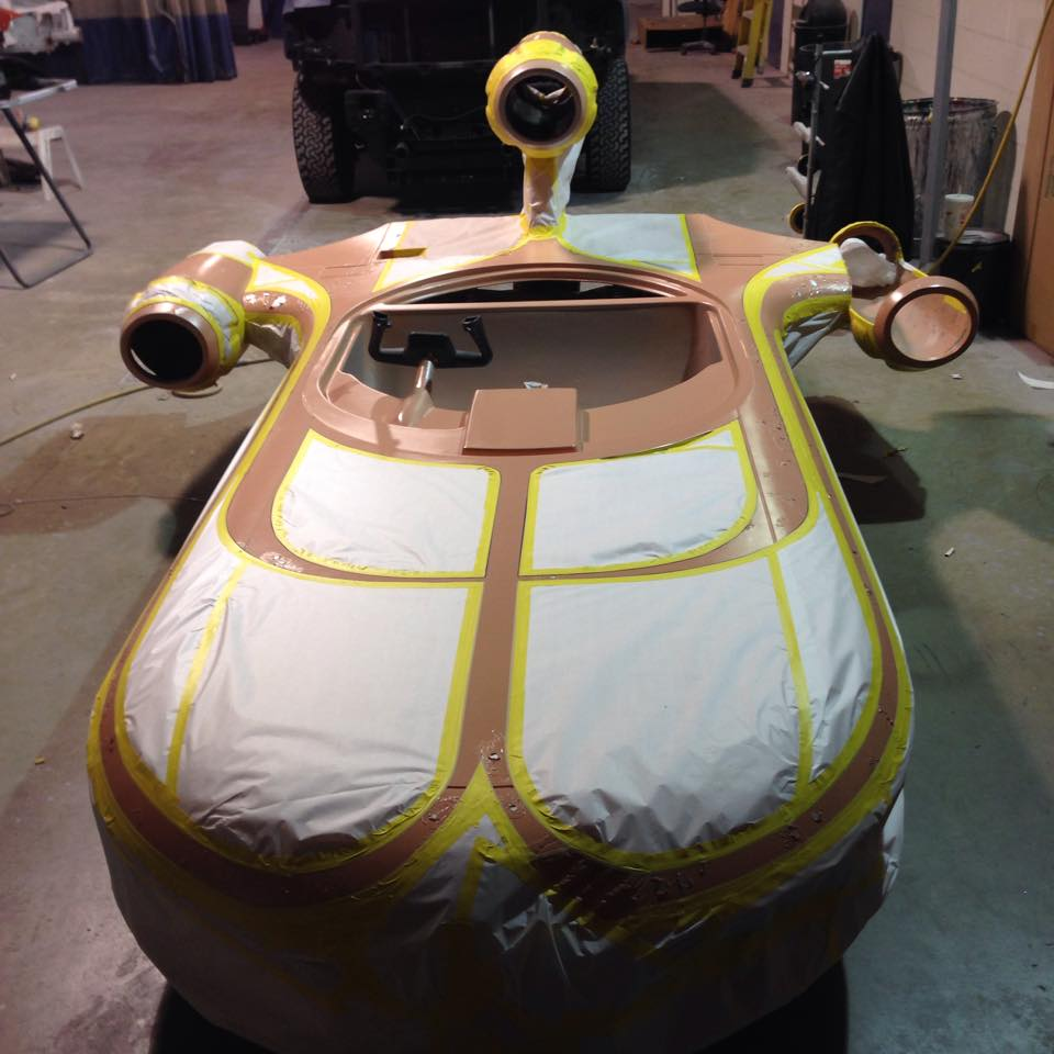 star wars landspeeder built from scratch is nerdalicious autoevolution