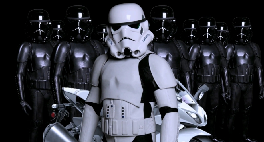 Star Wars Stormtrooper Motorcycle Leathers Cool Or Fool