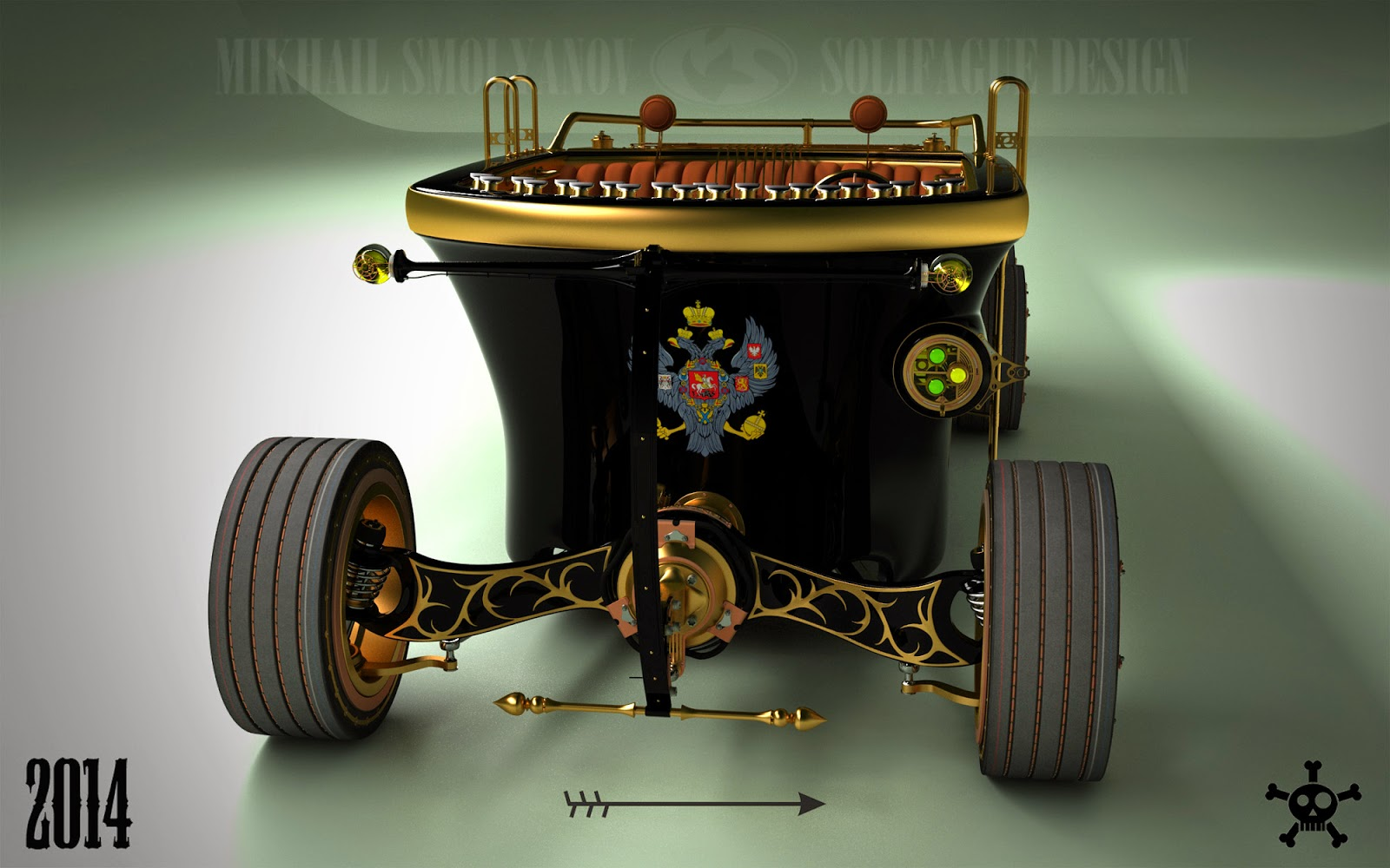 Steampunk 6-Wheel Land Yacht Is a Car from the Future Past ...