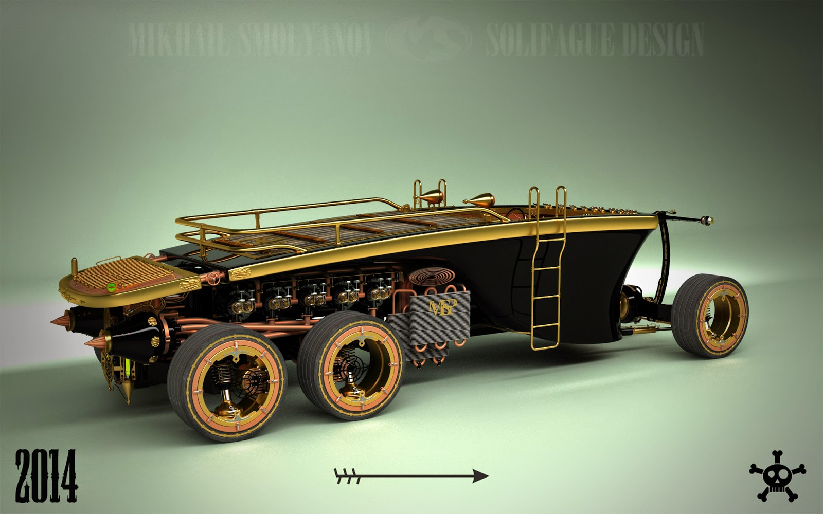 Steampunk 6 Wheel Land Yacht Is A Car From The Future Past Autoevolution