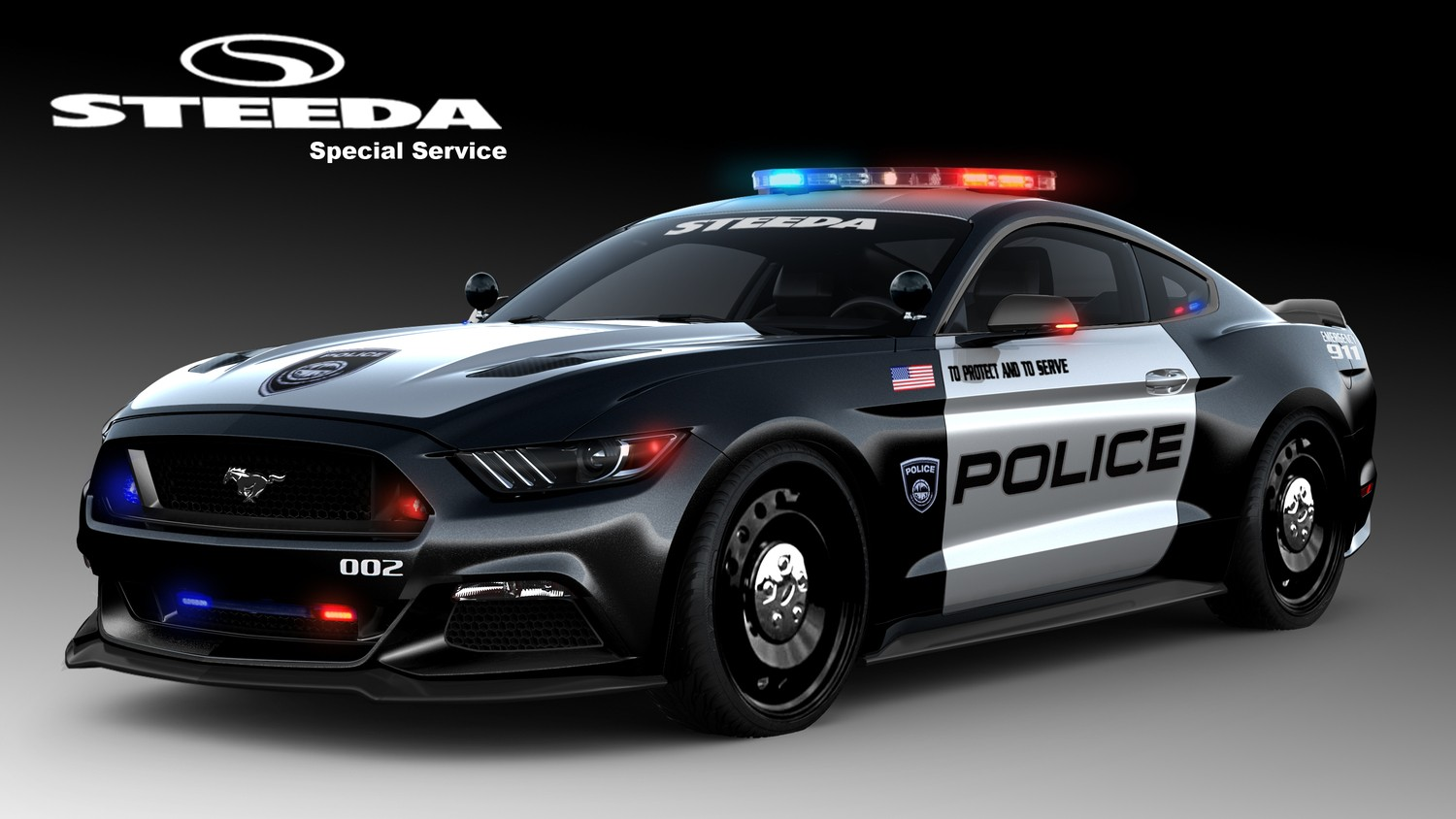 s550 mustang police car from steeda is ready to protect. Black Bedroom Furniture Sets. Home Design Ideas