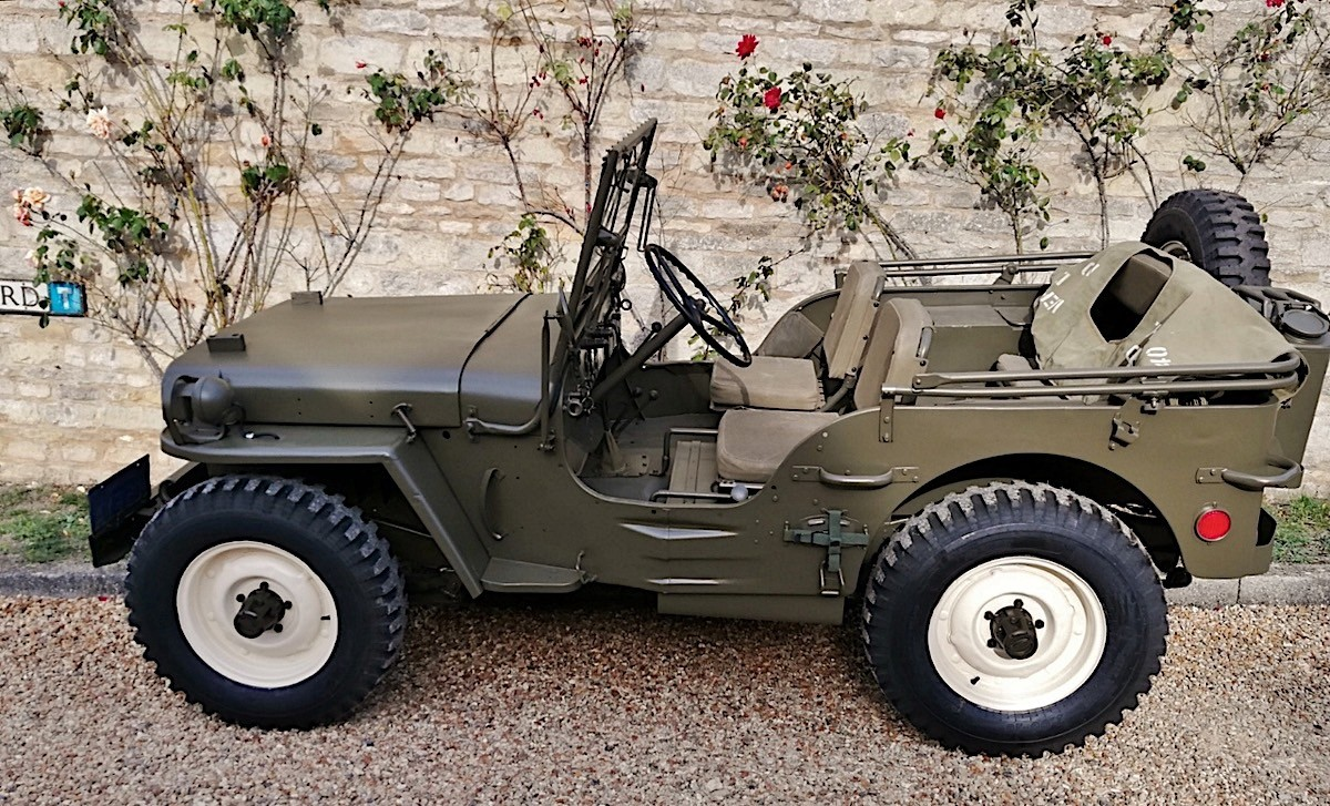 steve mcqueen s military 1945 willys jeep mb for sale at. Black Bedroom Furniture Sets. Home Design Ideas