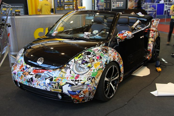 sticker bomb and the geeky art of cartoon car wrapping autoevolution. Black Bedroom Furniture Sets. Home Design Ideas