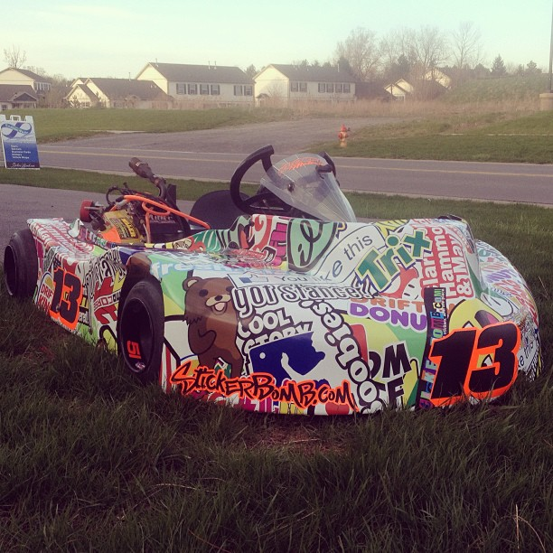 sticker bomb and the geeky art of cartoon car wrapping