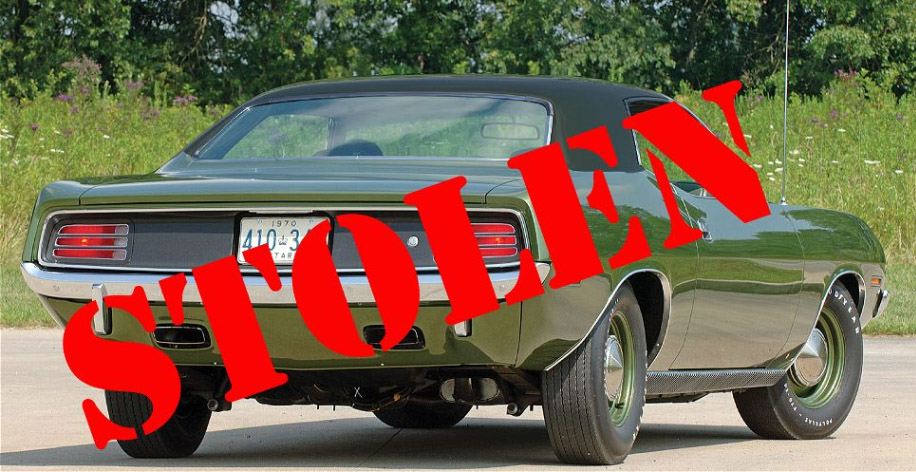 Stolen 1970 Plymouth Barracuda Found Not Returned
