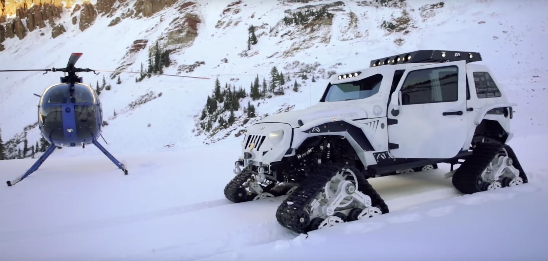 stormtrooper jk jeep with tracks is called arctic frog autoevolution. Black Bedroom Furniture Sets. Home Design Ideas