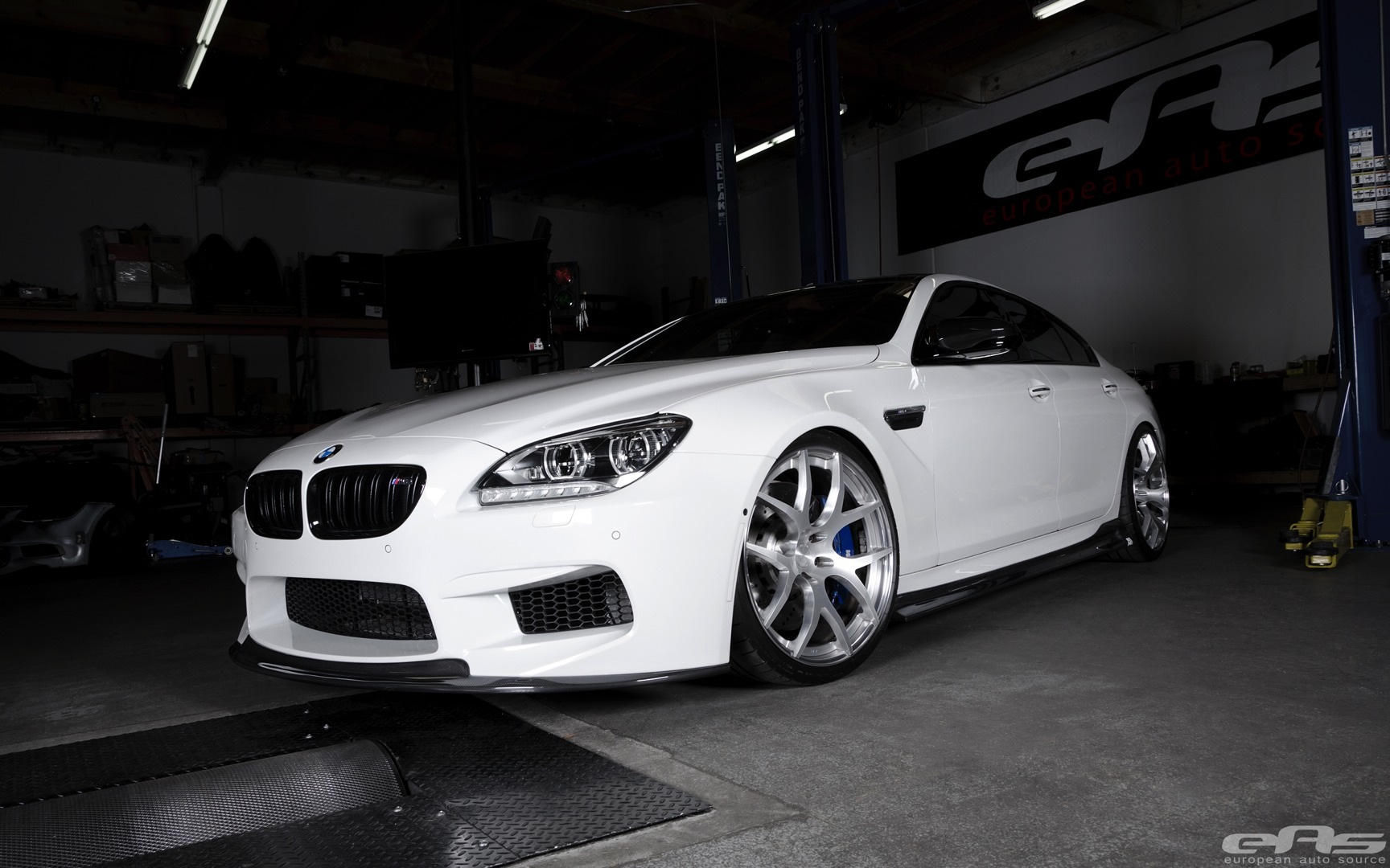 stunning alpine white bmw m6 gran coupe gets arkym body