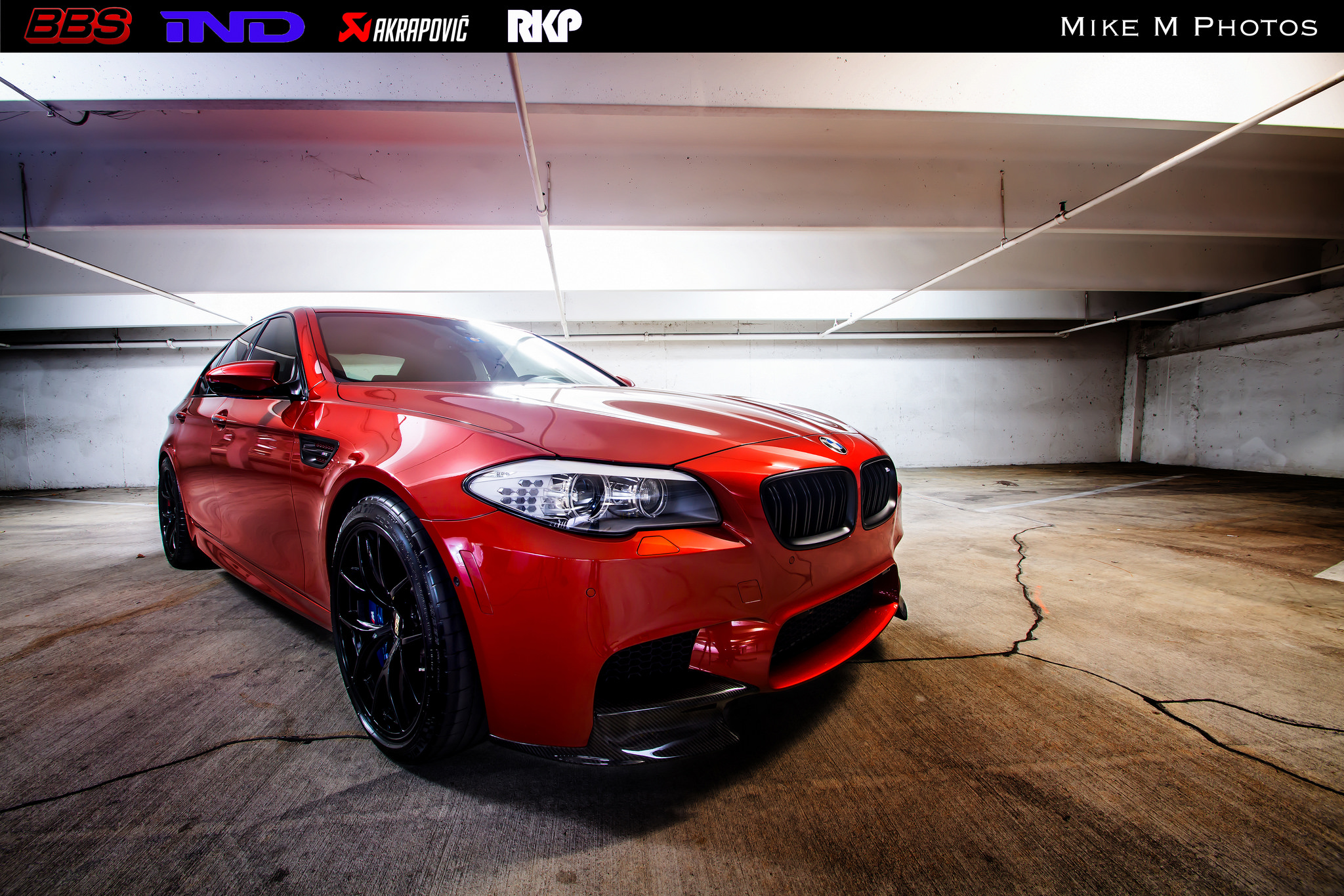 Stunning Sakhir Orange Bmw M5 Poses Underground