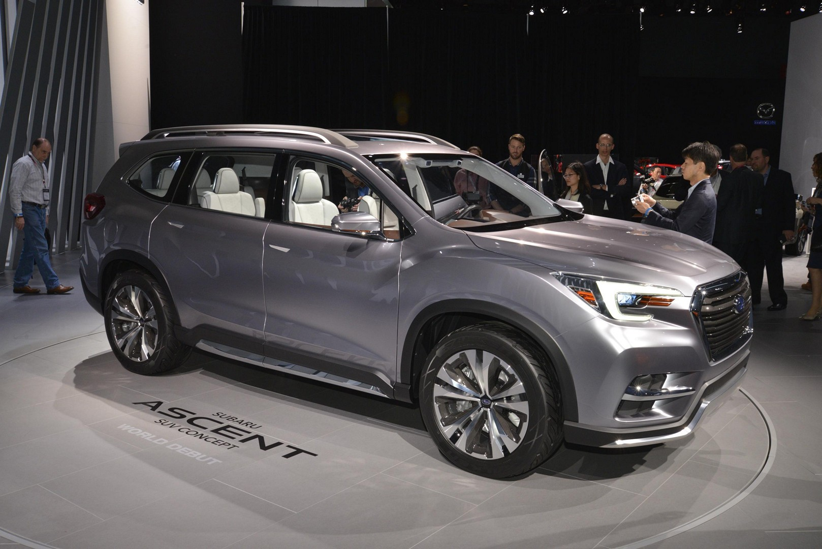 subaru ascent concept debuts with stunning interior in new york autoevolution. Black Bedroom Furniture Sets. Home Design Ideas