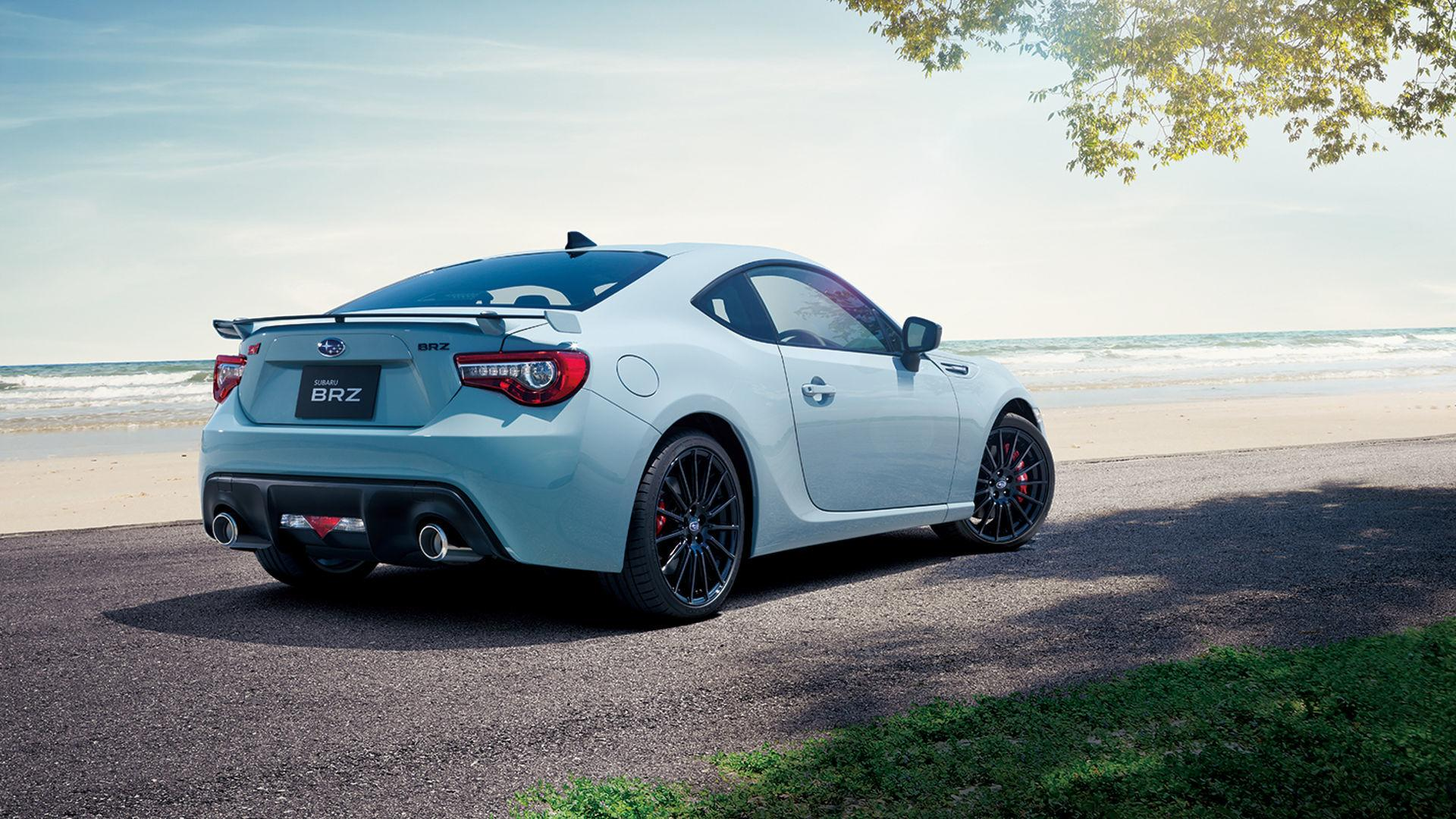 subaru brz sti sport special edition looks cool in gray
