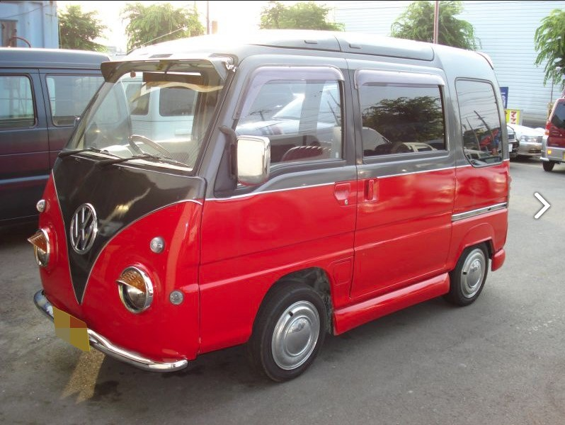 Subaru Sambar Conversion Looks like a VW Love Van for ...