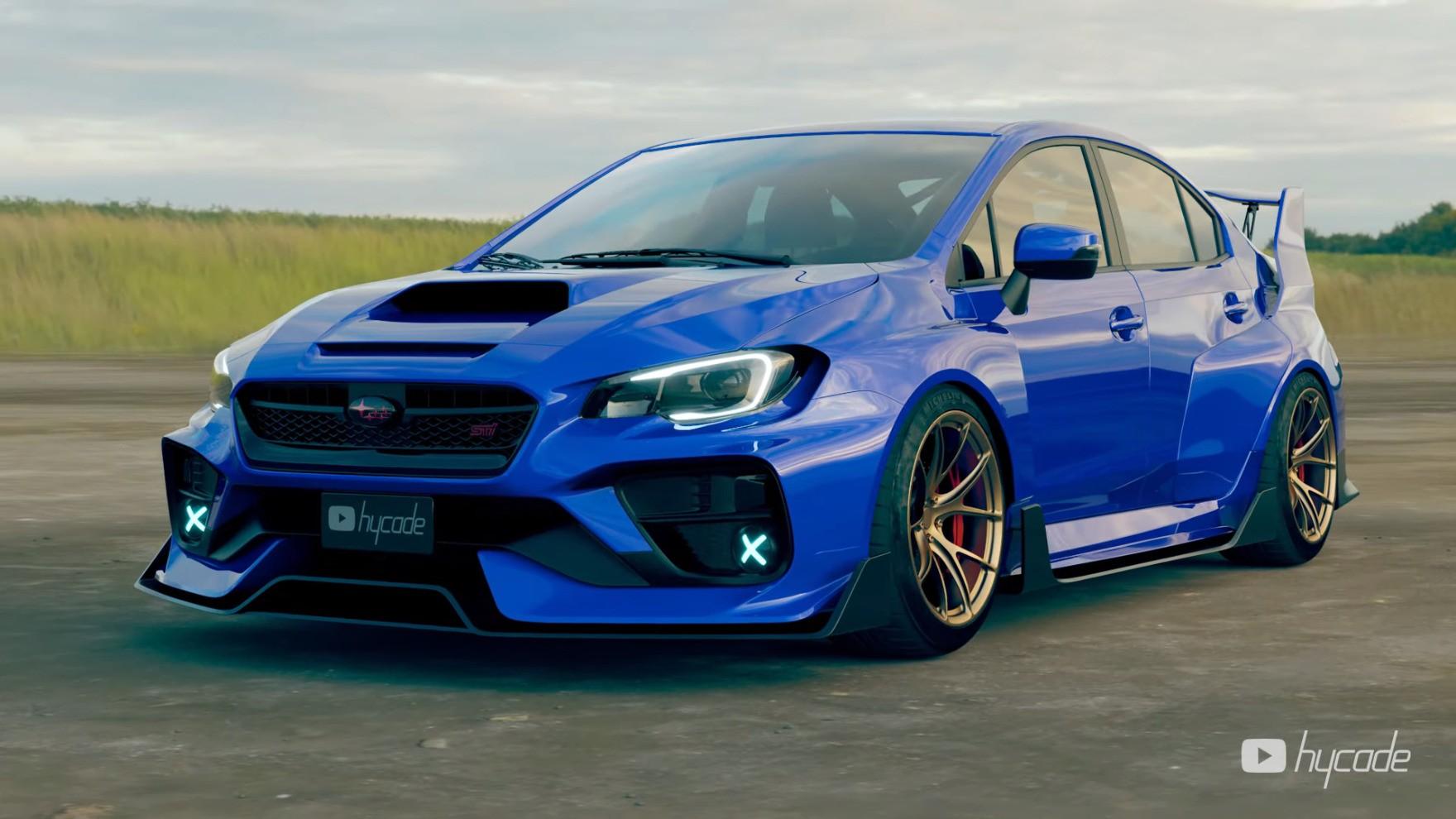 Subaru Wrx Sti Muscle Mass Widebody Is The Best Digital Jdm Tuning Autoevolution