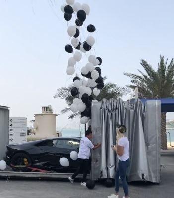 Woohoo Tila Tequila In A Sky Blue Lamborghini Gallardo