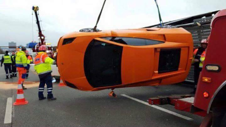 Supercar Loaded Truck Flips In France Exotics Get