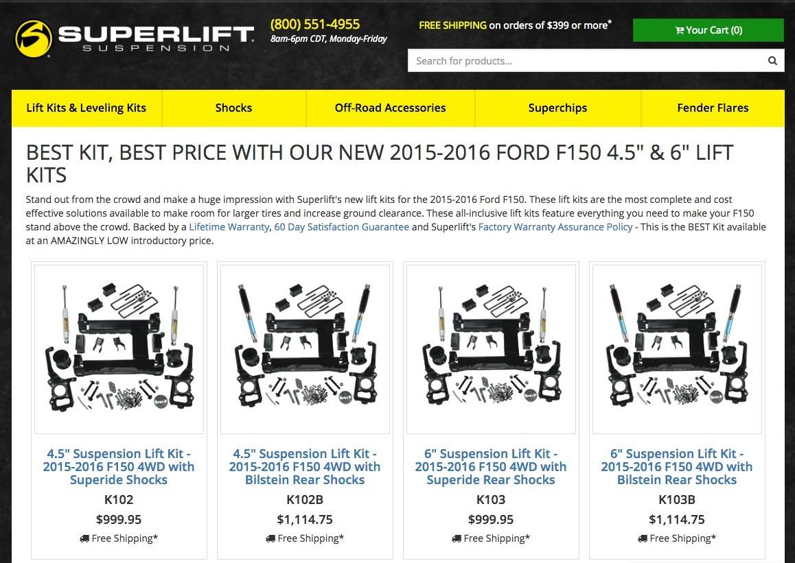 Superlift Lift Kits For The   Ford F  Superlift Lift Kit