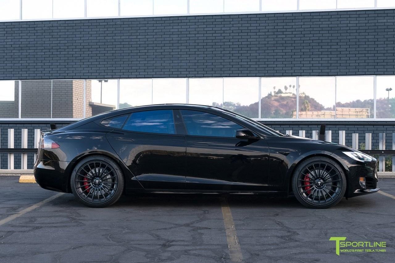 T Sportline Tesla Model S P100d Is A Black Stealthy